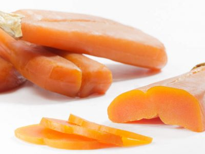 Amber coloured bottarga