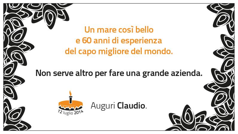 Tanti auguri Claudio!