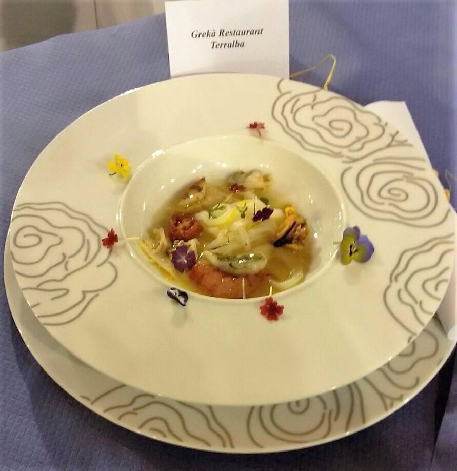 Piatto del 1^ classificato rassegna gastronomica - Grekà Restaurant Terralba