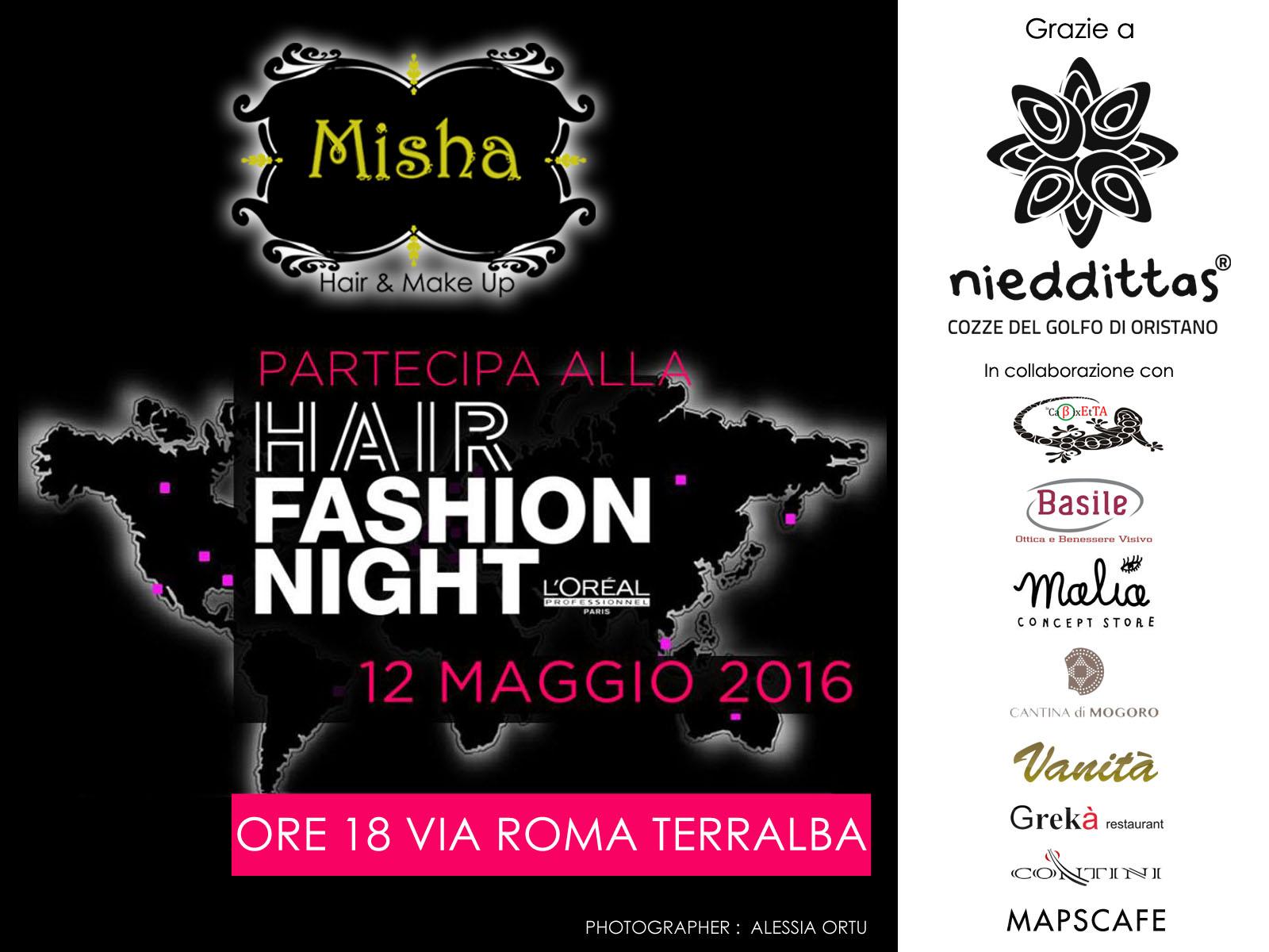 Terralba, 12 maggio: evento Misha/L'Orèal in collaborazione con Nieddittas.