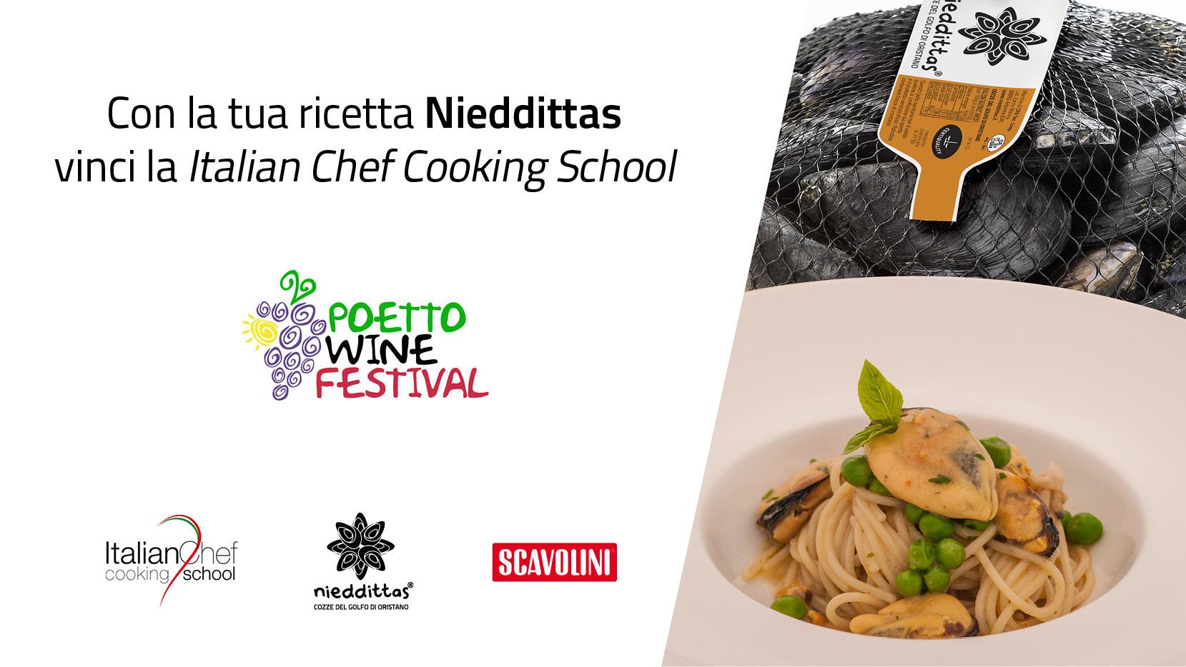 Con Nieddittas vinci una borsa di studio alla Italian Chef Cooking School.