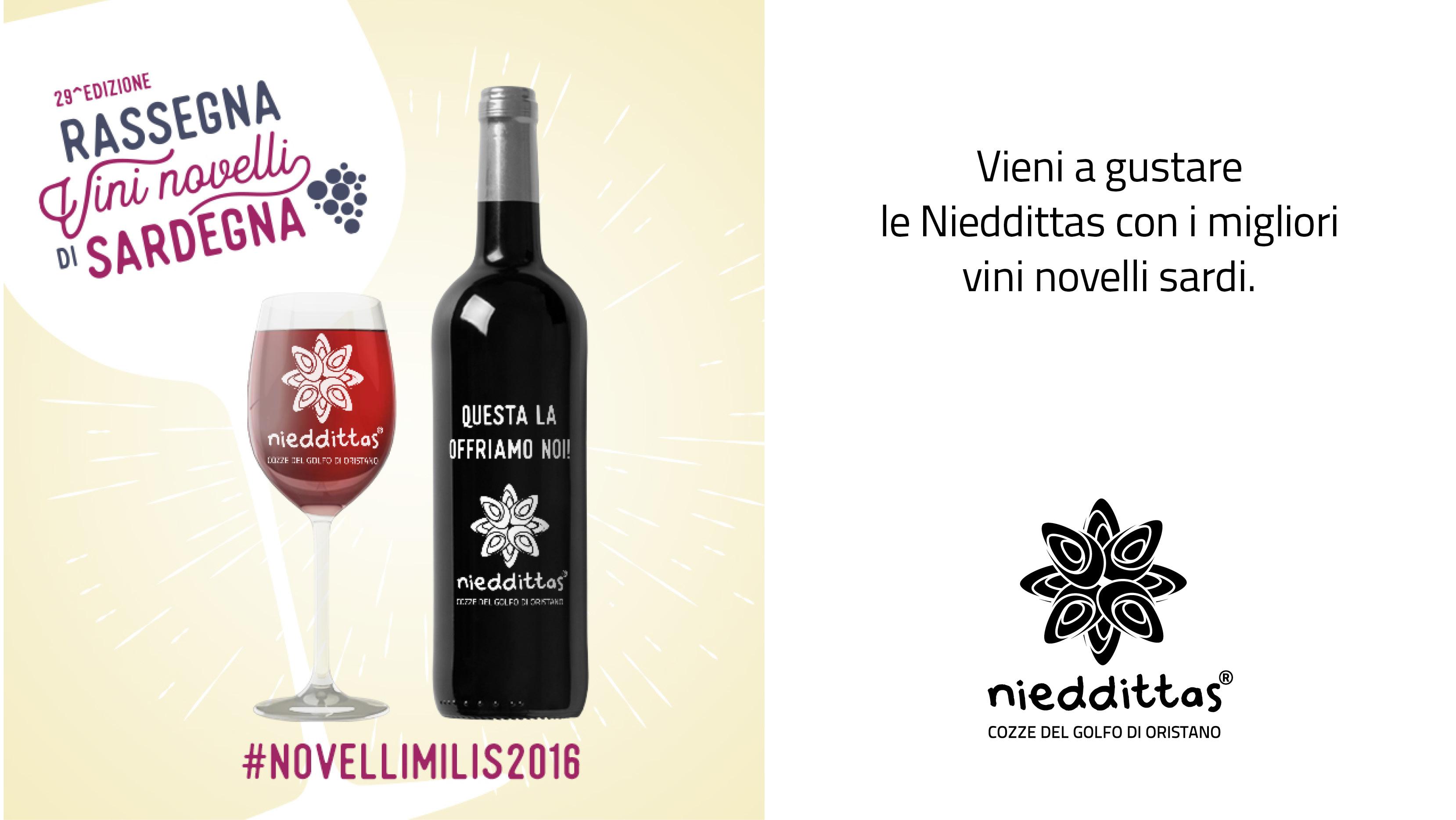 Nieddittas sponsor della Rassegna Vini novelli di Sardegna.