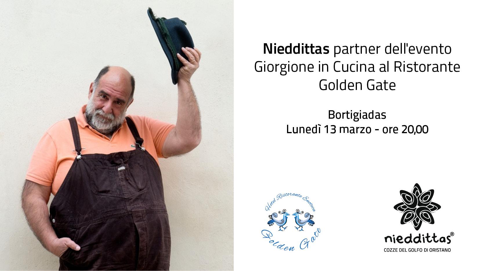 Nieddittas con Ristorante Golden Gate e chef Giorgione