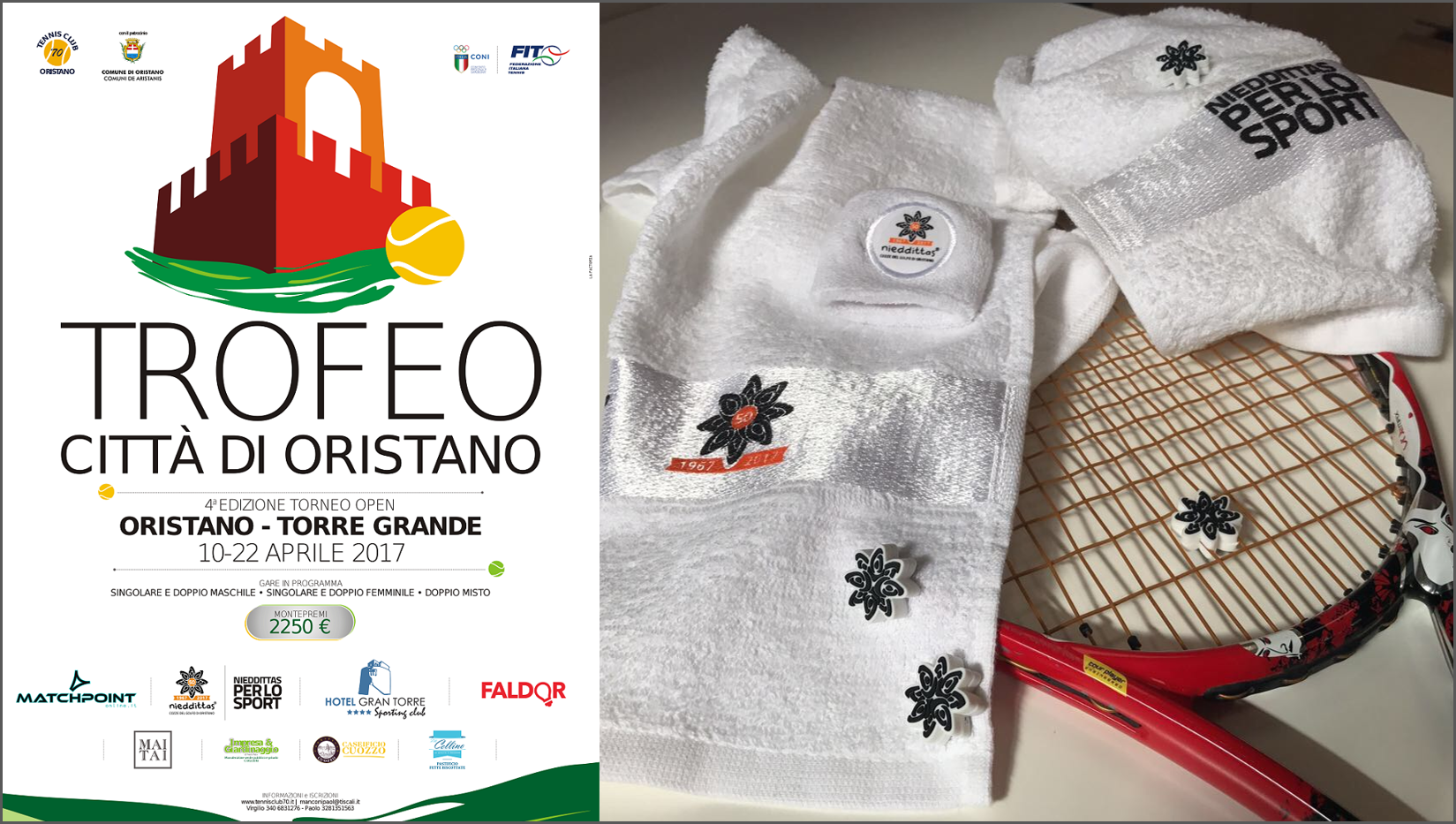 Nieddittas per lo sport: dal 10 al 22 aprile torneo Trofeo Città di Oristano.
