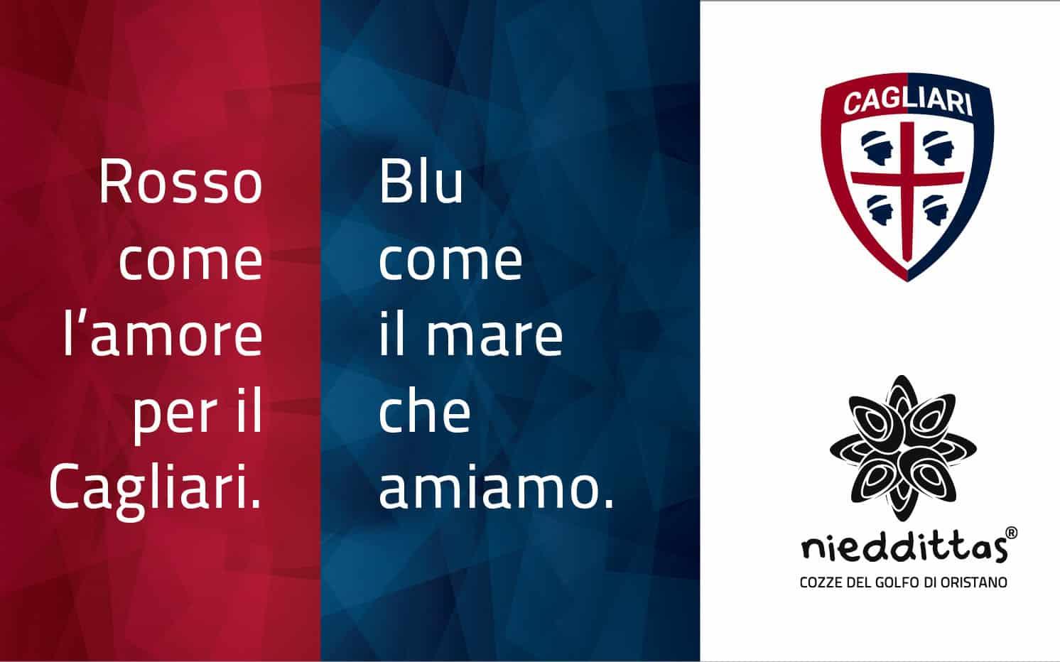 Cagliari Calcio: Nieddittas nuovo sponsor per i prossimi 3 anni.