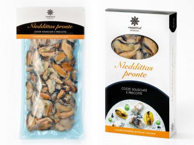 Nieddittas pronte Shelled and precooked mussels