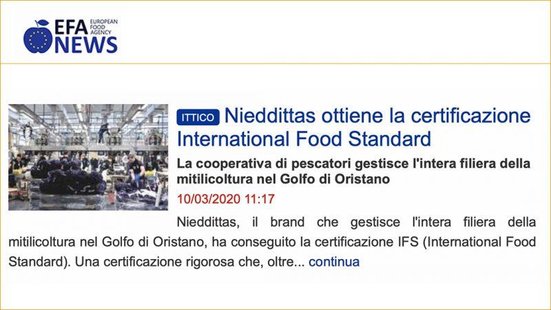 Nieddittas ottiene la certificazione International Food Standard