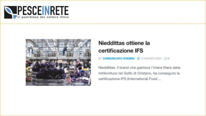 Nieddittas ottiene la certificazione IFS
