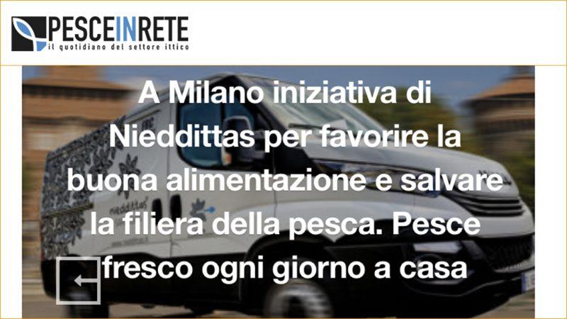 A Milano iniziativa di Nieddittas per favorire la buona alimentazione e salvare la filiera della pesca. Pesce fresco ogni giorno a casa