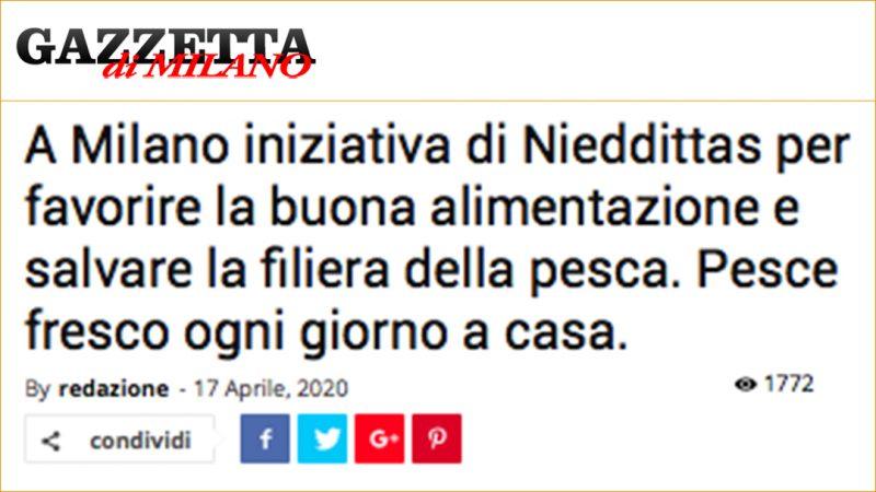 A Milano iniziativa di Nieddittas per favorire la buona alimentazione e salvare la filiera della pesca. Pesce fresco ogni giorno a casa.