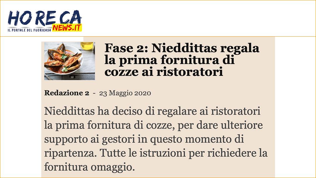 Fase 2: Nieddittas regala la prima fornitura di cozze ai ristoratori