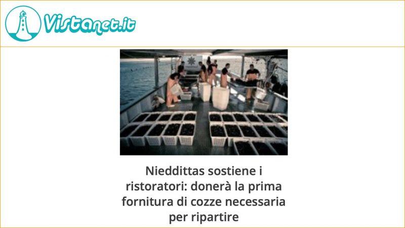 Nieddittas sostiene i ristoratori: donerà la prima fornitura di cozze necessaria per ripartire