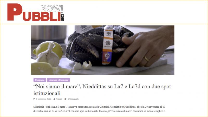 """""""Noi siamo il mare"""", Nieddittas su La7 e La7d con due spot istituzionali"""