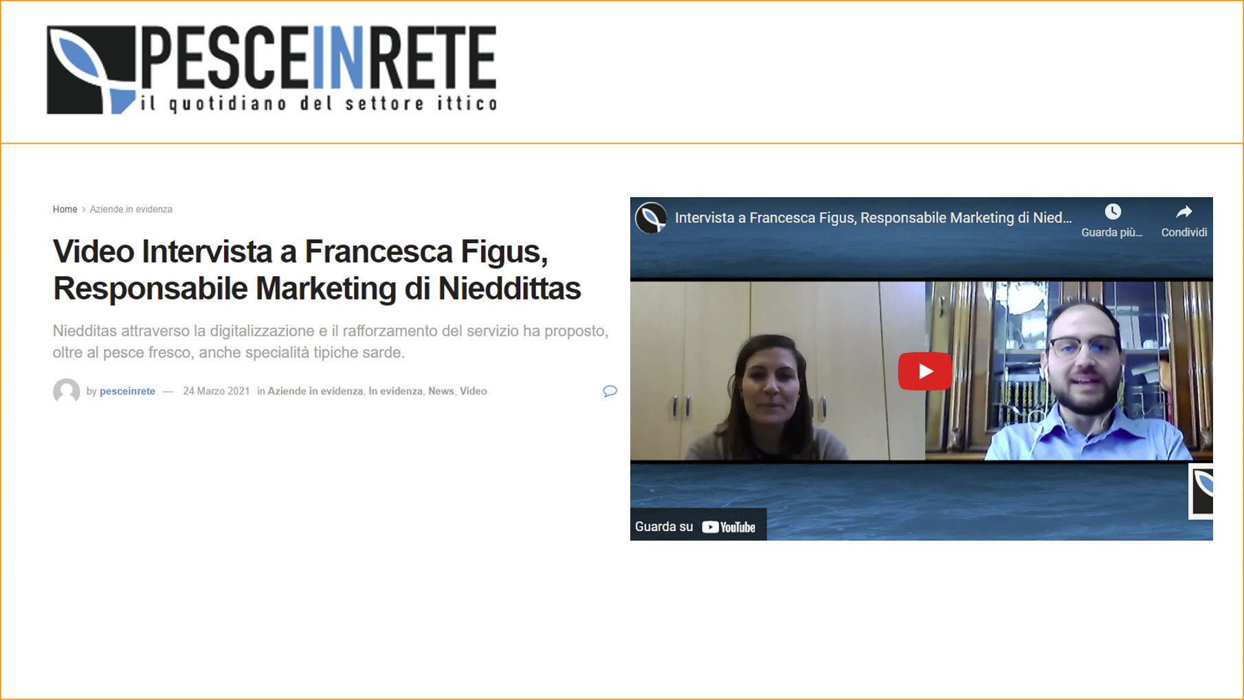 Video Intervista a Francesca Figus, Responsabile Marketing di Nieddittas