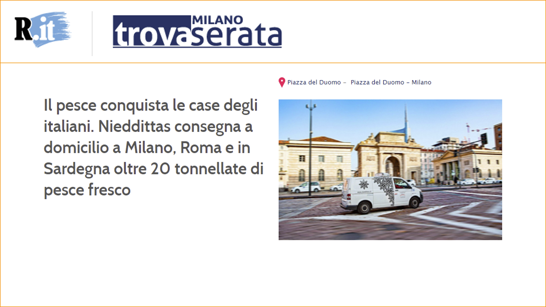 Il pesce conquista le case degli italiani. Nieddittas consegna a domicilio a Milano, Roma e in Sardegna oltre 20 tonnellate di pesce fresco