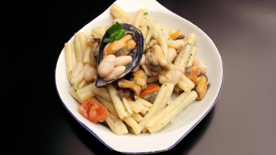 Ricetta pasta fagioli e cozze