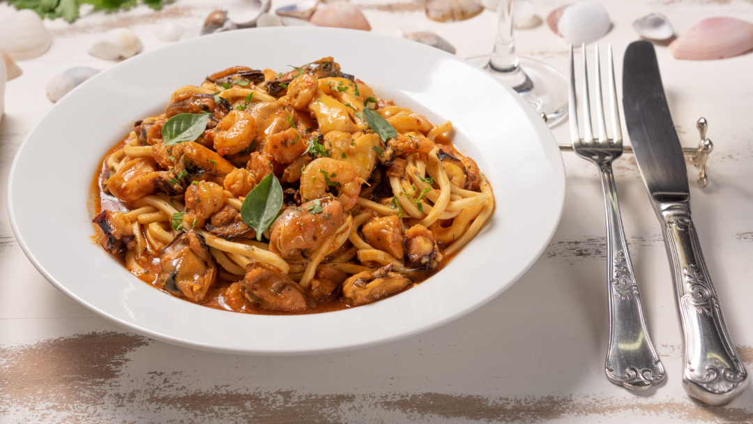 Ricetta spaghetti ai frutti di mare