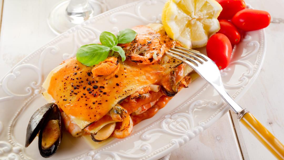 Ricetta lasagne ai frutti di mare